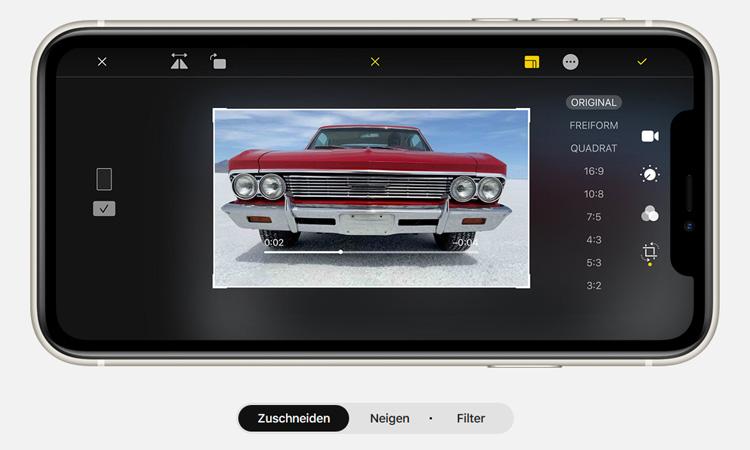iPhone 11 Videobearbeitung