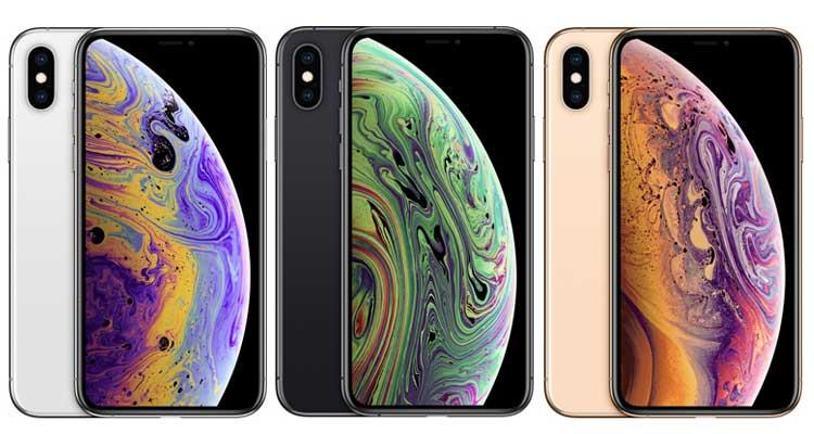 iPhone XS Farben Vorder- und Rückseite