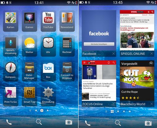 Blackberry Z10 Apps Taskmanager