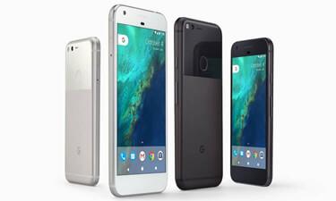 Google Pixel in Anthrazit und Silber