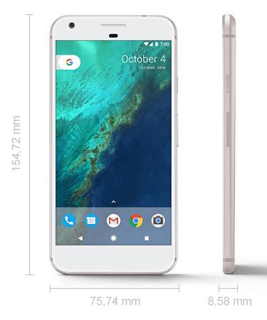 Abmessungen Google Pixel XL