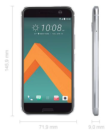 HTC 10 Abmessungen