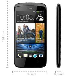 Abmessungen HTC Desire 500