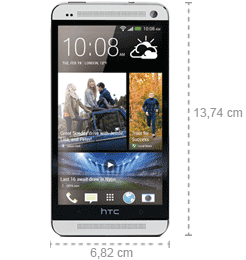 Abmessungen HTC One