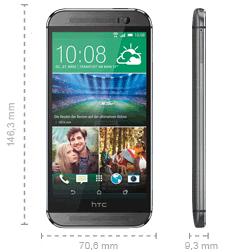HTC One M8 Abmessungen