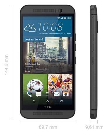 HTC One M9 Maße Abmessungen