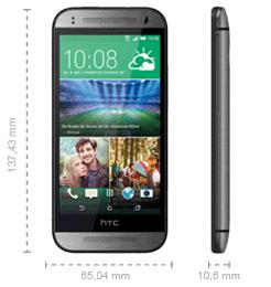 HTC One mini 2 Abmessungen