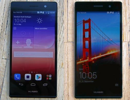 Home-Screen und Sperrbildschirm Huawei Ascend P7
