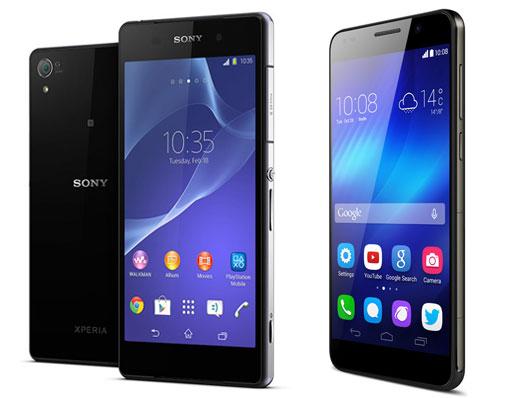 Huawei Honor 6 & Sony Xperia Z2 Vergleich