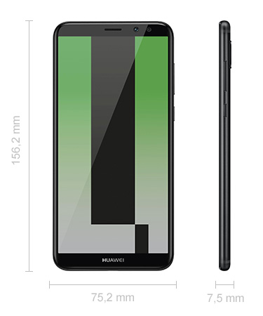 Huawei Mate 10 Lite Abmessungen