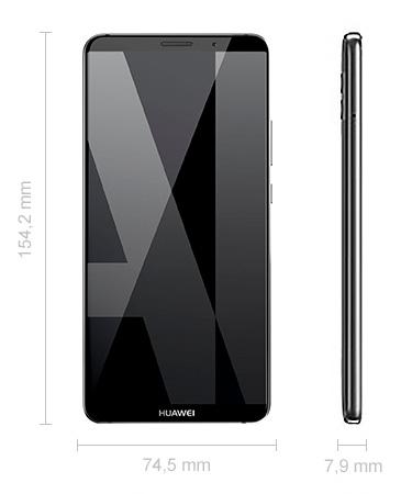 Maße Huawei Mate 10 Pro Abmessungen