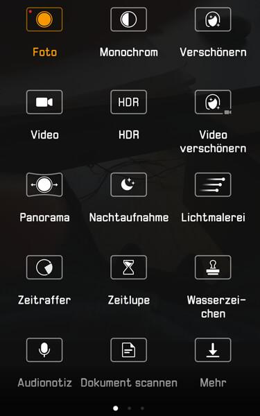 Kameramenü Huawei Mate 9
