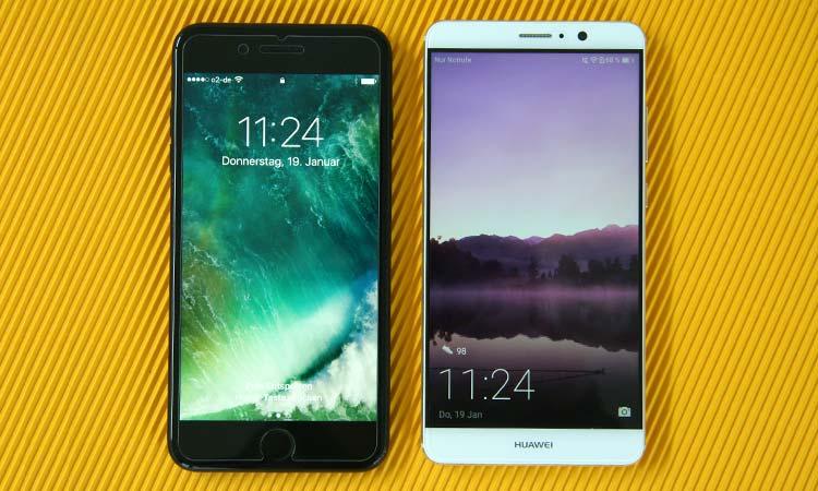 iPhone 7 Plus und Huawei Mate 9 im Vergleich