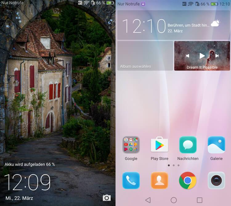 Huawei Nova Homescreen