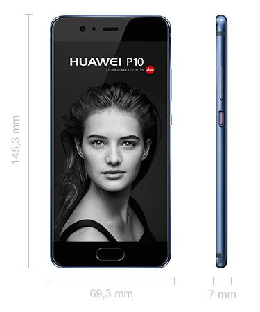 Abmessungen Huawei P10 Maße