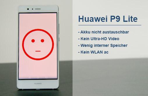 Huawei P9 Lite: Minuspunkte