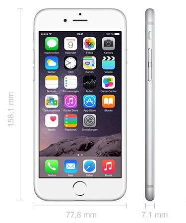 iPhone 6 Plus Maße Abmessungen