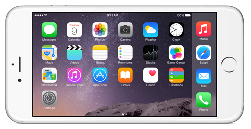 iPhone 6 Plus im Querformat (Quelle: Apple)