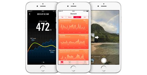 iPhone 6: Baromter misst Höhenmeter (Quelle: Apple)