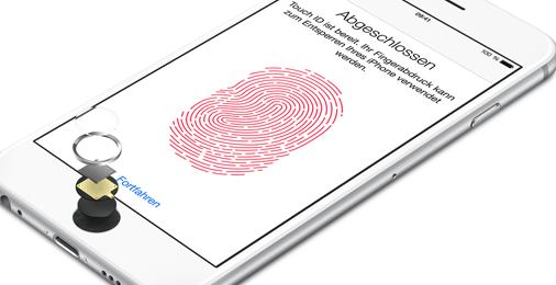 Bezahlen mit dem iPhone 6 per Fingerabdruck (Quelle: Apple)