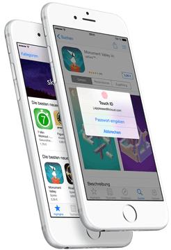 iPhone 6 - einfach per Fingerabdruck bezahlen (Quelle: Apple)