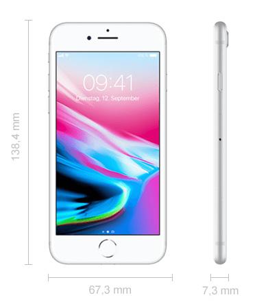 Maße iPhone 8 Abmessungen