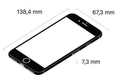 Abmessungen iPhone 8 Maße