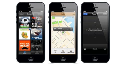 iPhone 5 Anwendungen
