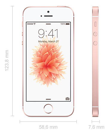 iPhone SE Abmessungen