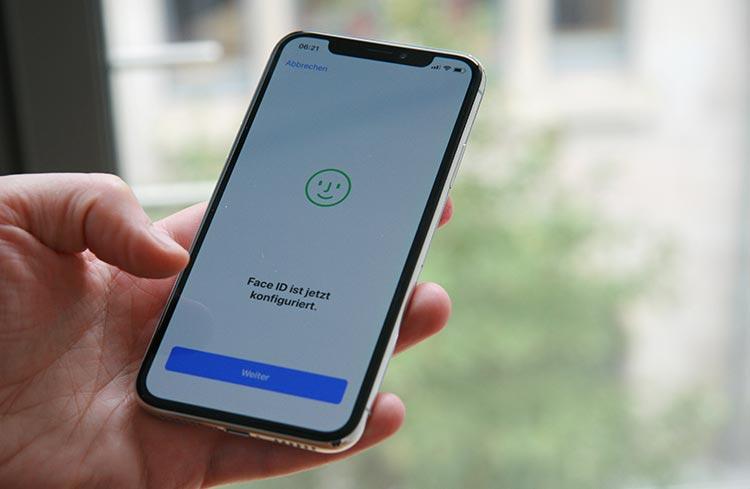 iPhone X Face ID einrichten