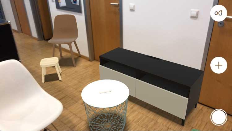 App IKEA Place auf dem iPhone X