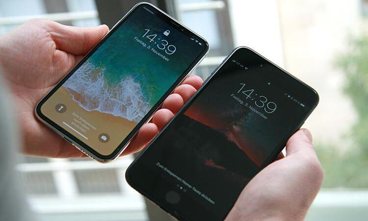 iPhone X und iPhone 8 Plus im Vergleich