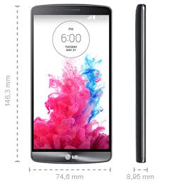 LG G3 Abmessungen