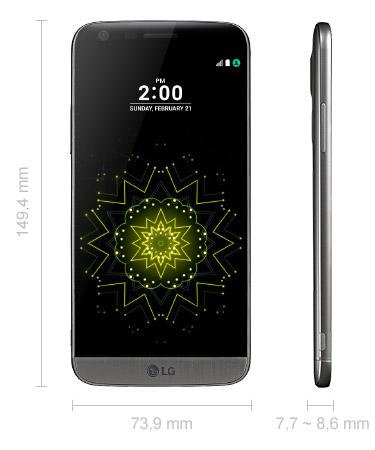 LG G5 Abmessungen
