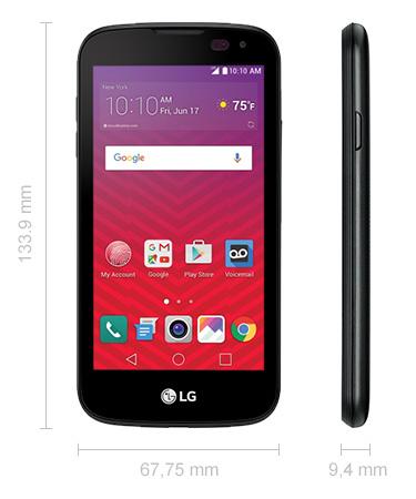 LG K3 Abmessungen