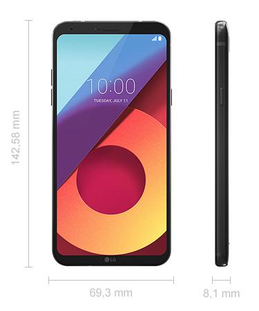 Maße LG Q6 Abmessungen