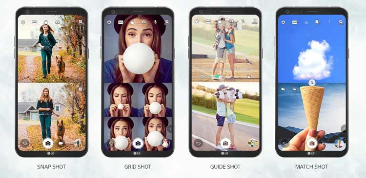 LG Q6 Quadratischer Kameramodus