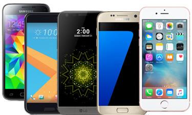 Auswahl LTE Smartphones
