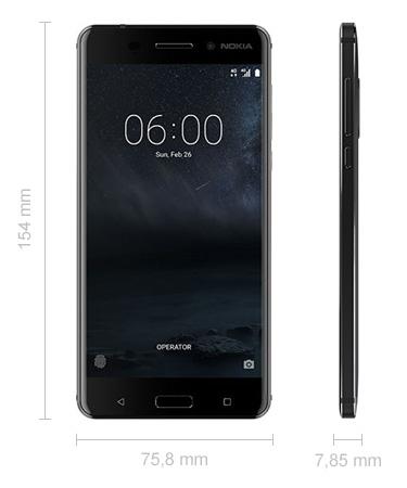 Abmessungen Nokia 6 Maße