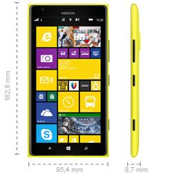 Nokia Lumia 1520 Abmessung