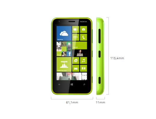 Nokia Lumia 620 - Abmessungen