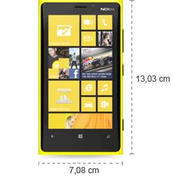 Nokia Lumia 920 Abmessungen