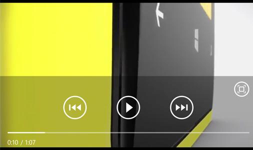 Nokia Lumia 920 Video Player