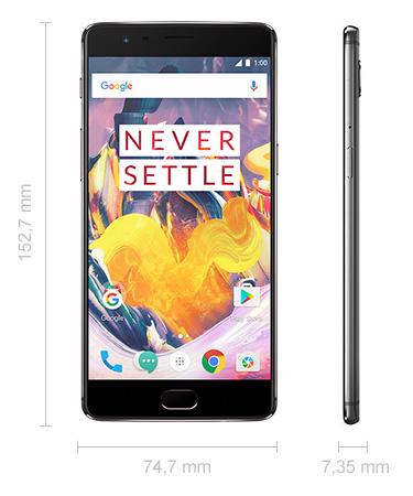 OnePlus 3T Abmessungen
