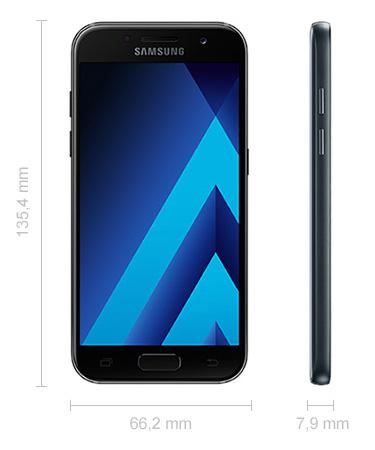 Maße Abmessungen Samsung Galaxy A3 (2017)