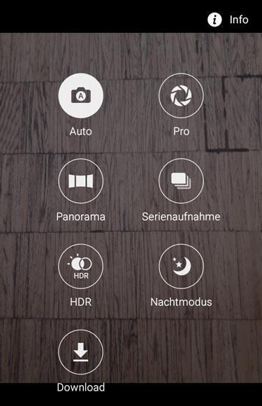 Samsung Galaxy A3 Kamera-Menü