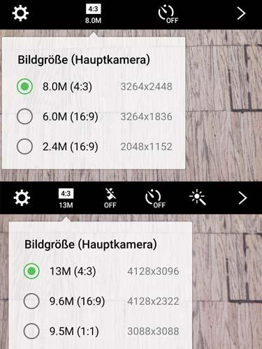 Samsung Galaxy A5 HDR-Einstellungen