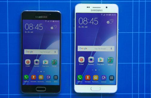 Samsung Galaxy A5 und A3 im Größenvergleich