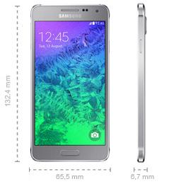 Samsung Galaxy Alpha Abmessungen
