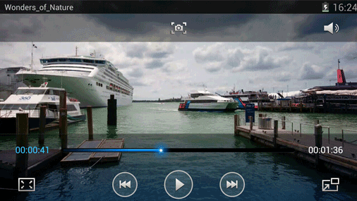 Samsung Galaxy Note 2 Video Player